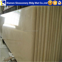 Egyptian beige marble prefab kitchen countertop with full bullnose edge laminated