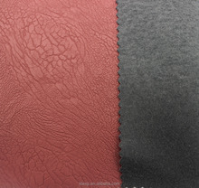 PU synthetic leather for shoes with elastic fabric backing
