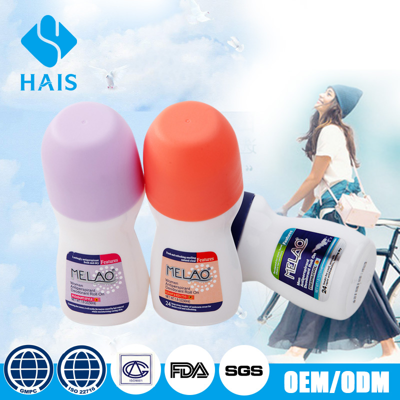 50ml All-natural best selling antiseptic cheap alcohol-free brand name deodorant antiperspirant roll on cream for women
