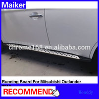 Running board for Mitsubishi Outlander 2013 Aluminiun alloy side step bar 44 accessories from maiker