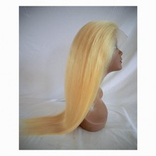 Glueless Full Lace Wig Blonde 613 Unprocessed Brazilian Virgin Human Hair Two Tone Ombre Lace Front Wigs with Baby Hair