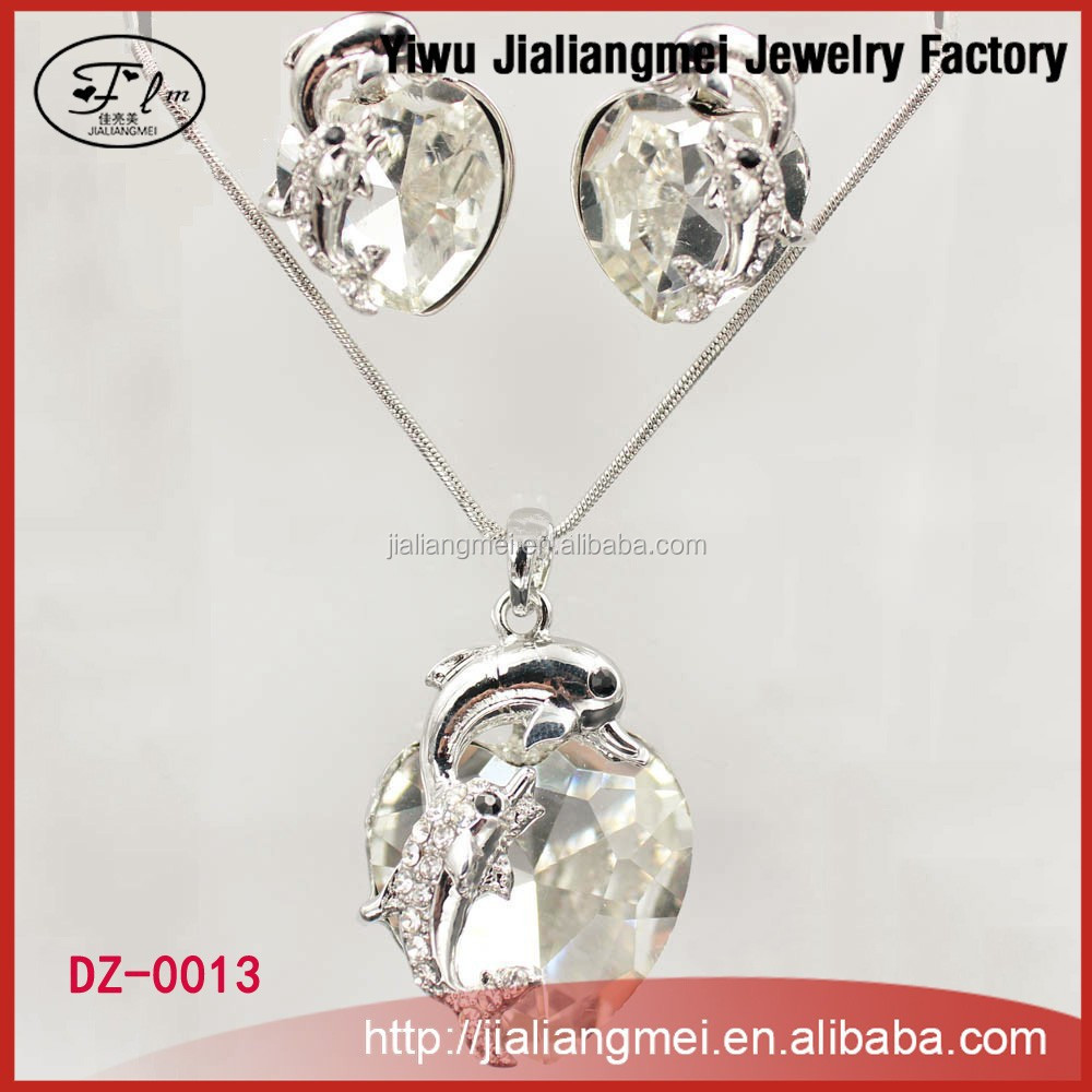 Crystal pendant designs scarf industrial necklace earrings set