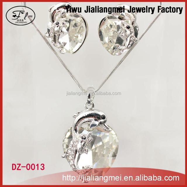 Crystal pendant designs scarf industrial necklace earrings set