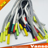 Colored braided shoelace silicone end string hoodie string