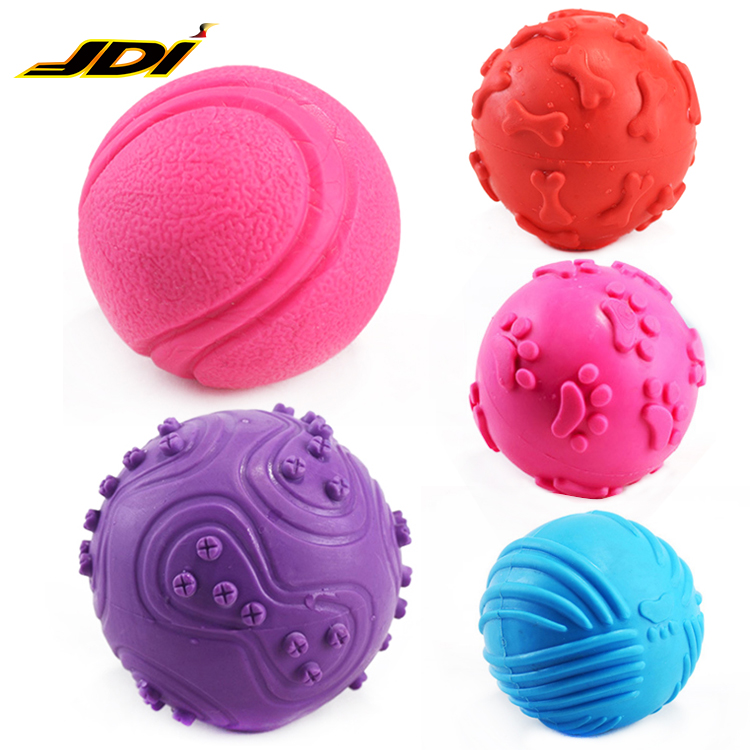 2018 Ball toy <strong>pet</strong> chew rubber dog toy durable dog chew TPR <strong>pet</strong> toys bouncing bell ball seven color