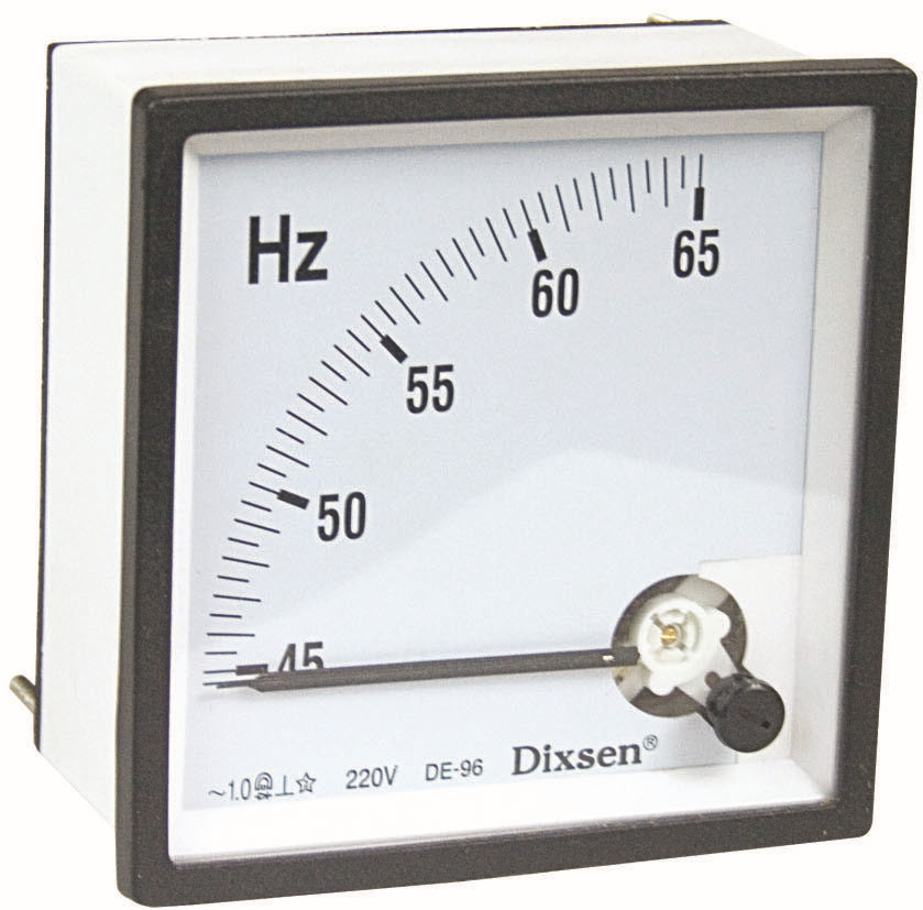 Hertz Frequency Meter : Hz v analog frequency panel meter view
