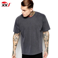 custom mens tee oversize fit t shirt vintage washed boxy t-shirt clothing suppliers china mans t shirt 2019