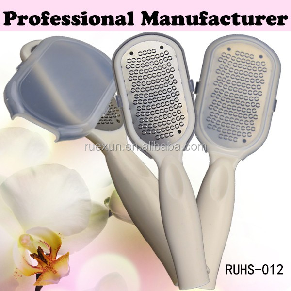 Etching stainless steel callus remover foot file