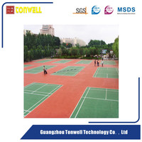 ITF approved SIPU stadium gym sport field coating tennis court surface underlay