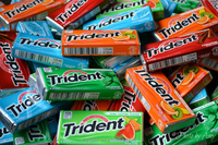 Tropical fruit flavor sugar free chewing gum, Tropical twist chewing gum,same as Trident chewing gum.
