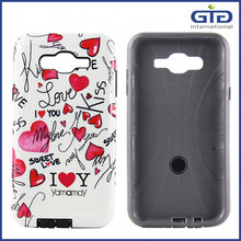 2 in 1 Water Print Phone Case For Samsung J7, For Galaxy J7 Case