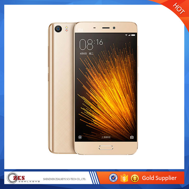 Top Sale Standard Edition 3GB 32GB Dual <strong>SIM</strong> 3D Glass Gold Color Xiaomi 5 Smartphone On Promotion