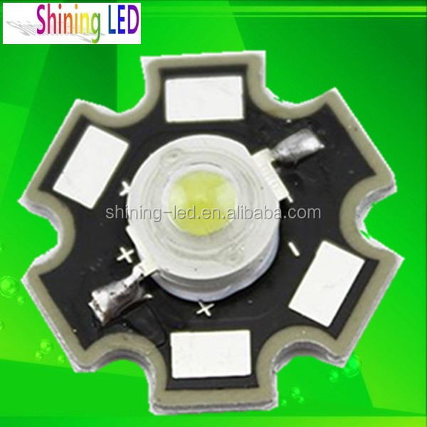 Taiwan Epistar Chip 1W High Power LED with Star Aluminum Heat Sink PCB