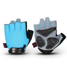 Custom half finger leather cycling mountain bike riding gloves