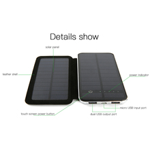 Hot Sale Foldable Solar Battery Charger Kit with 8000mAh Battery and Leather Case