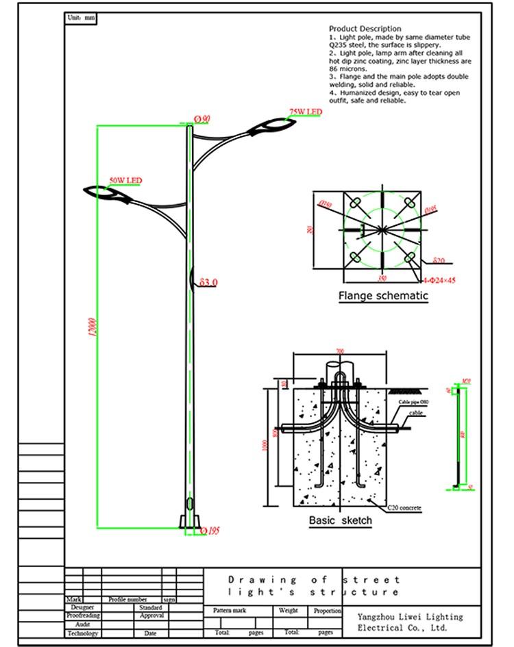 Light Pole Schematic Circuit Connection Diagram