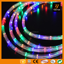 High voltage two line rainbow tube rope high acrylic cap for christmas use