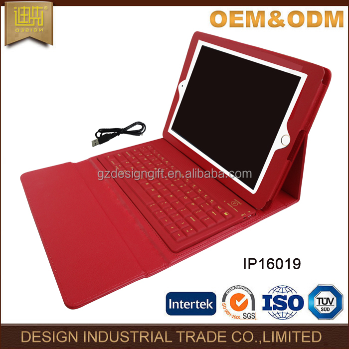 Soft pu leather laptop accessories tablet case with keyboard