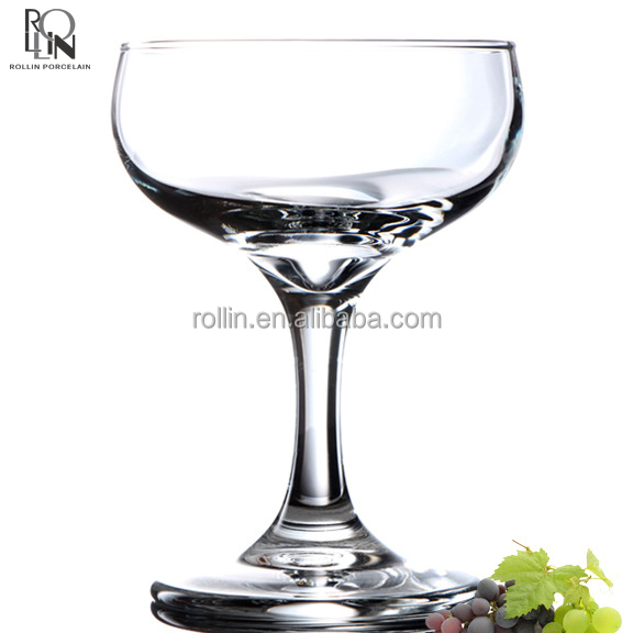 wedding coupe champagne glasses