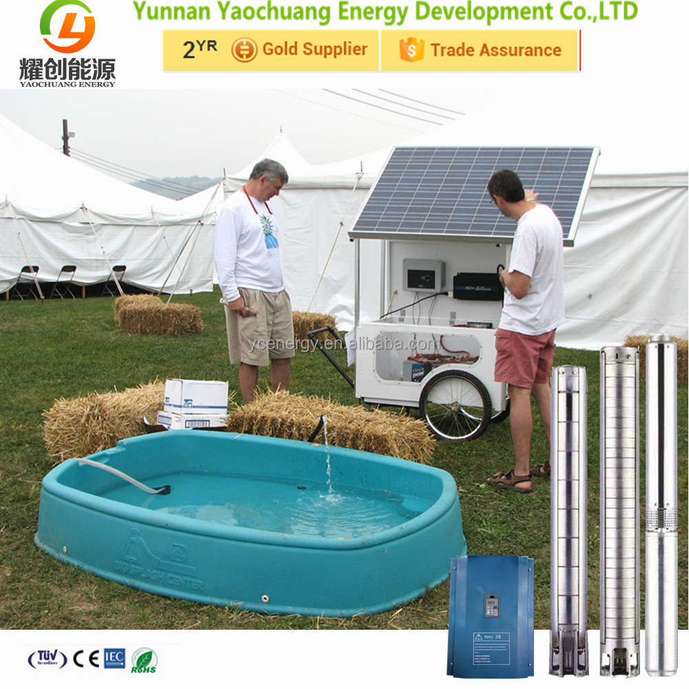 Max head lift 500m 500 M solar water pump system ac & dc submersible solar water pump for farm irrigation home livestock