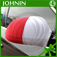 Racing car and football soccer club flags printing rear view mirror cover