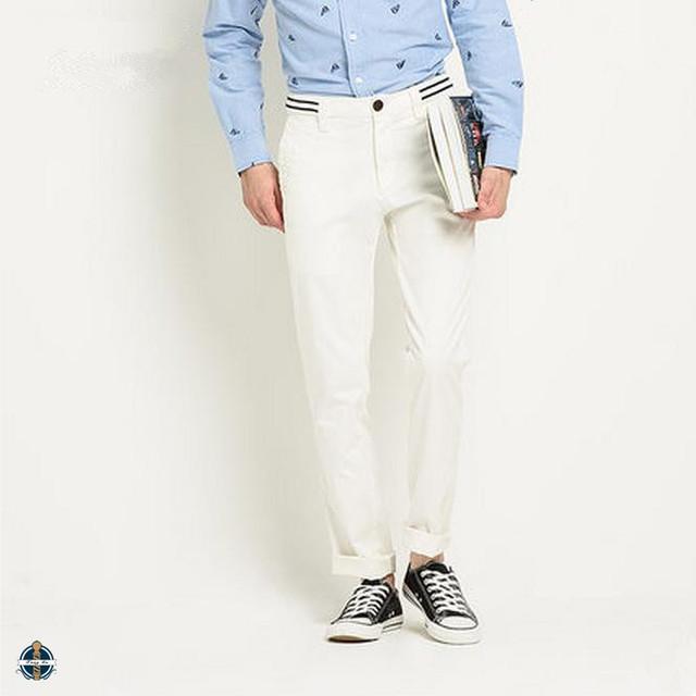T-MP520 Ribbing Waistband Long Casual Chino New Design Men Cotton Pants