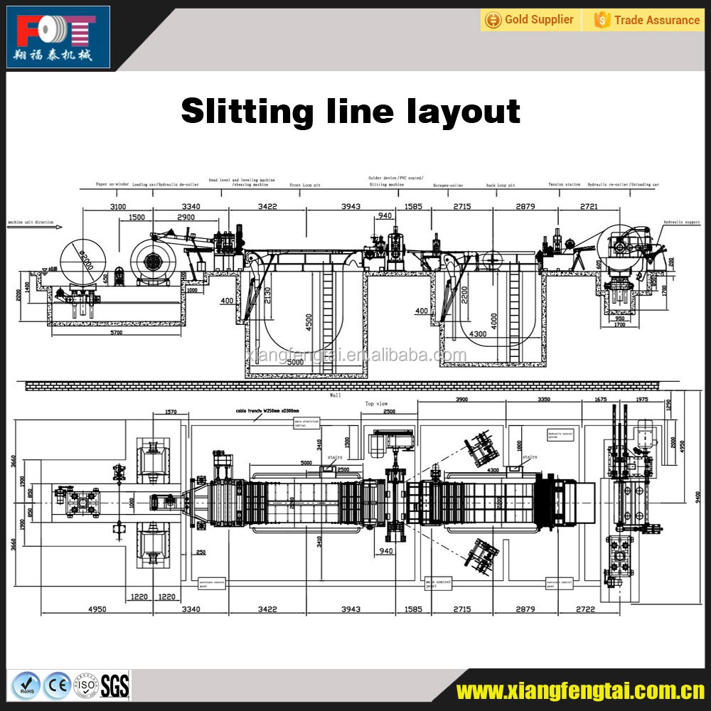 Steel coil slitting machine slitting machinery equipment slitting line