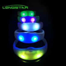 Professional design remote controlled led wristband flashing bracelet