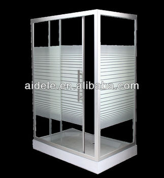 rectangle line glass sliding shower enclosure