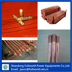 electroplating steel earth rods for lightning protection system made in China