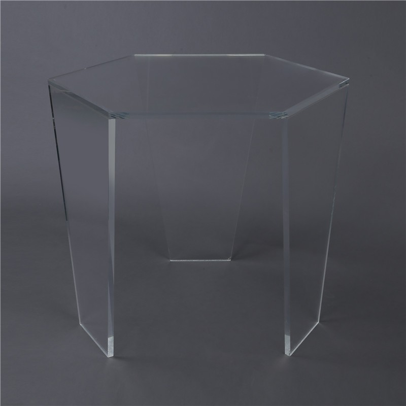 Display standing hexagon acrylic desk