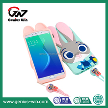 3D Cartoon Rabbit Judy charming Mobile Phone Silicone Case