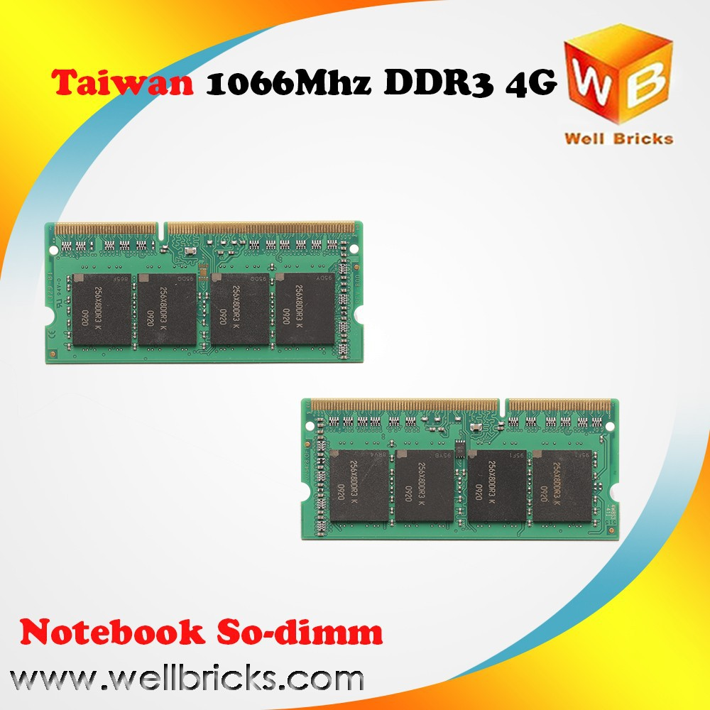 Computer memory ram Full compatible Original chip RAM memoria ddr3 4gb 1gb 2gb 1066MHZ laptop