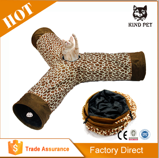 Super quality cat tunnel toy of young and adult cat