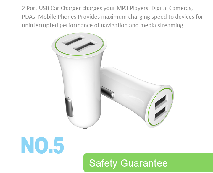 Wholesale Universal Portable Custom Laptop Smart Quick Charging Mobile Phones Dual Usb Car Charger For iPhone