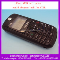 world cheapest mobiles 4USD GSM 900/1800Mhz C118 cheapest china mobile phone in india
