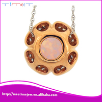 China P14148-001-ZO rose gold pendants charms