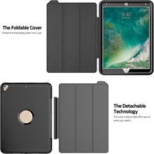 Leather Smart Cover for iPad Pro 10.5 Case, Shockproof Armor Case for iPad Pro 10.5