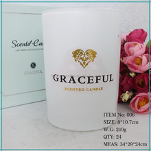 Customized Luxury Clean Burning Wax and Lead Free Wick Scented Soy Blend Candles
