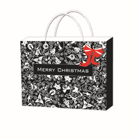 Custom design Christmas coated paper gift bags