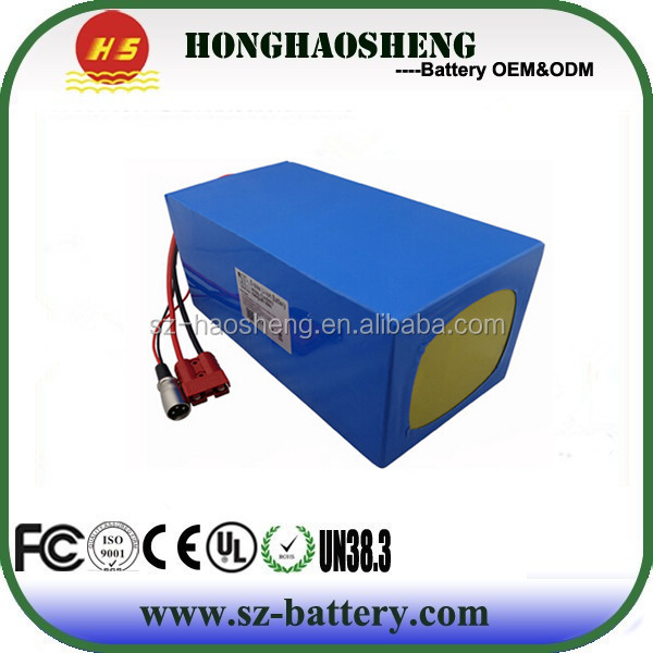 China professional manufacturer 48v 50ah lithium ion battery pack with BMS