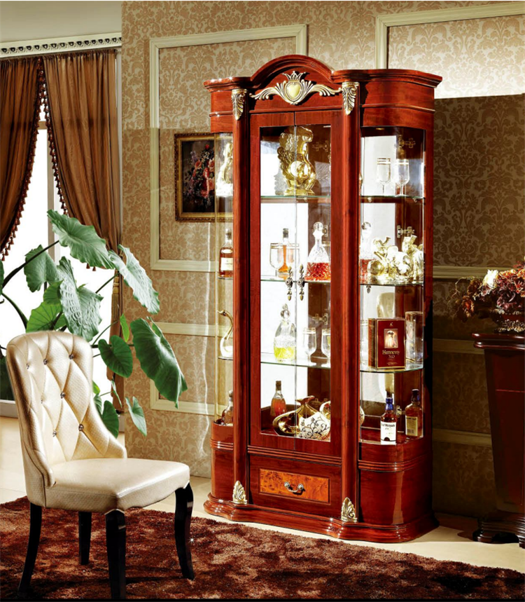 Living room wooden furniture showcase design wood buy - Living room showcase designs images ...
