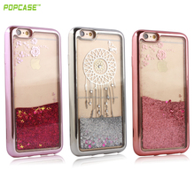 Glittering sandy cellphone case Liquid case for I phone 7 & 7 Plus with Flowing shimmering powder!!