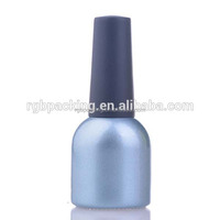 Wholesale custom made 16ml clear empty soak off uv glass nail gel container with black cap