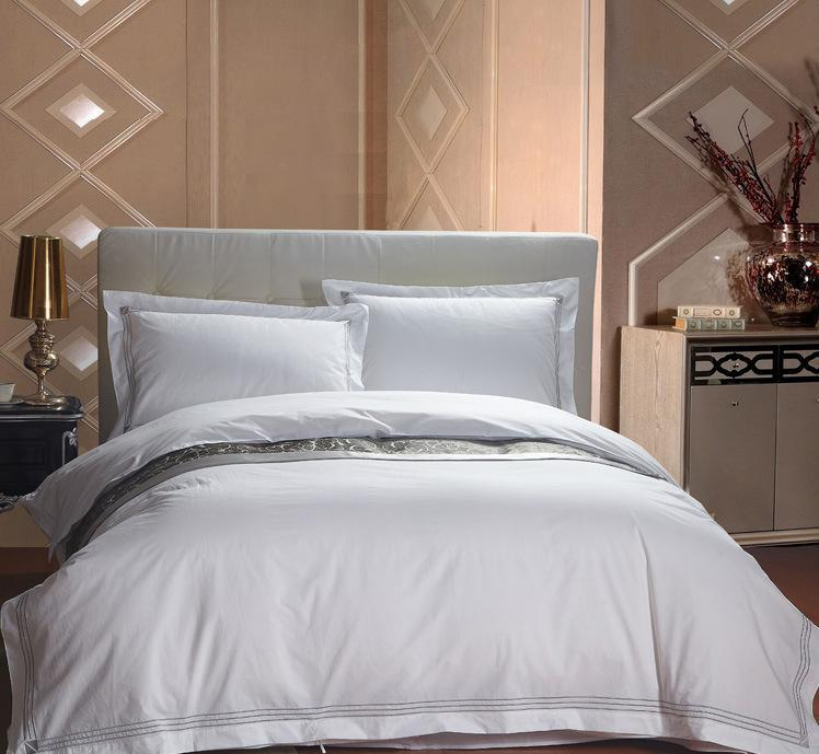 Four seasons hotel bedding sets Starred hotel bedding linen 100% cotton satin