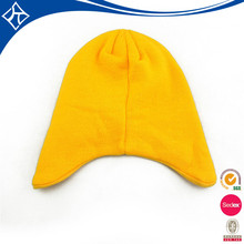 custom plain yellow baby boy beanie hat
