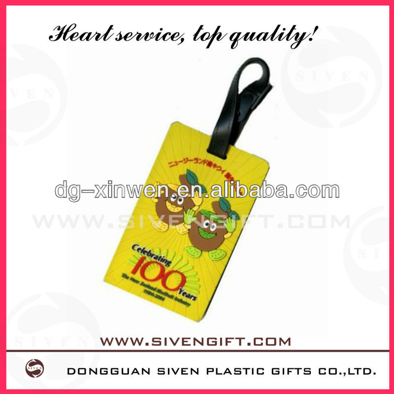 customized Folded lovely paper airline luggage tags