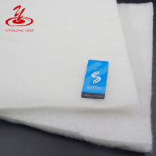 White Color Virgin Poly Microfiber Fill Silk Like Garment Polyester Wadding Factory