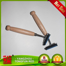 High quality hotel use OEM razor with wooden handle