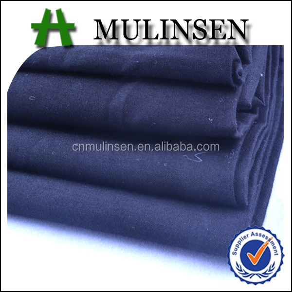 Mulinsen Textile Plain Woven 40s Poplin Solid Color Indigo Dyed Cotton Fabric for Shirts and Pants